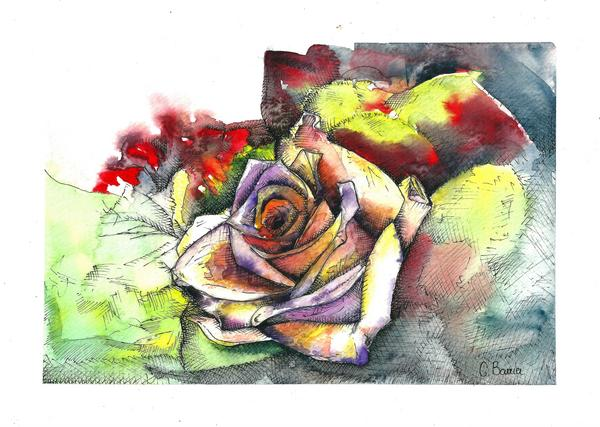Water colour flower 2