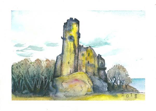 Le château de Tournoël, France